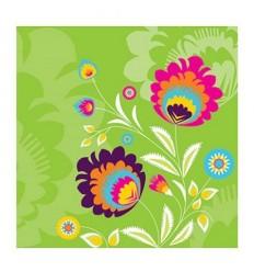 Салфетки цветни мотиви