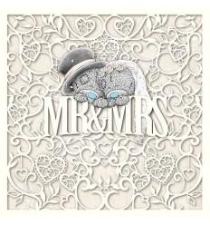3D Картичка за младоженци MR AND MRS