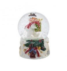 Преспапие Снежен човек с подарък