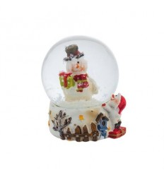 Преспапие Снежен човек с шапка
