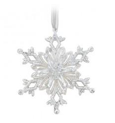 Висулка снежинка сребро