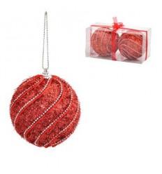 Коледна топка червена 10 см.
