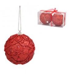 Коледни топки червени 10 см.