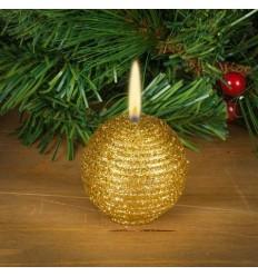 Свещ топка злато