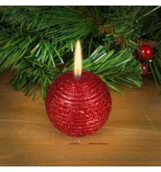 Свещ топка червена