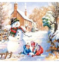 Салфетки снежен човек
