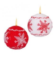 Свещ топка снежинка