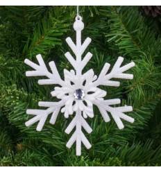 Играчка снежинка бяла