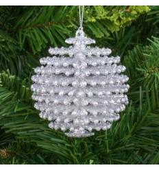 Коледна играчка сребро