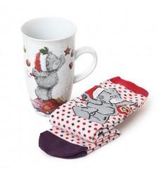 Коледна чаша с чорапи MUG AND SOCKS