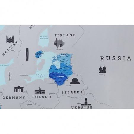 Скреч карта Европа