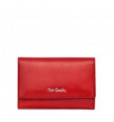 Дамско портмоне PIERRE CARDIN наситено червено с цип