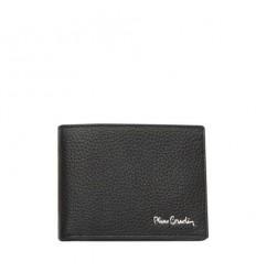 Мъжки портфейл, черен - едър шагрен