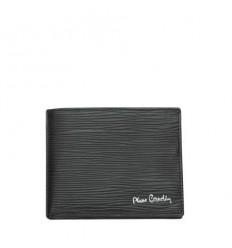 Мъжки черен портфейл на черти, ест.кожа