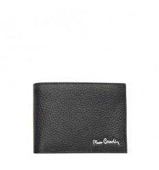 Мъжки черен портфейл, едър шагрен