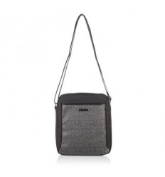 Мъжка чанта черно и сиво