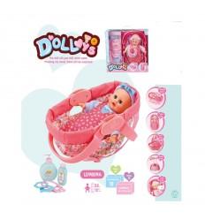 Бебе с кошче аксесоари и звуци