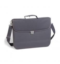 Бизнес чанта от текстил, сива