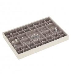 Голяма кутия за бижута 41 секции ванилия мока