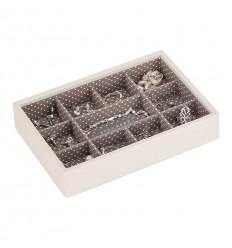 Мини кутия за бижута 11 секции ванилия мока