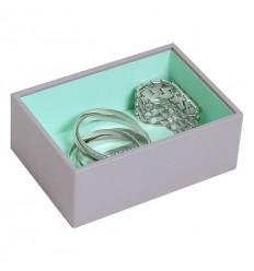 мини кутия за бижута дълбока сиво мента