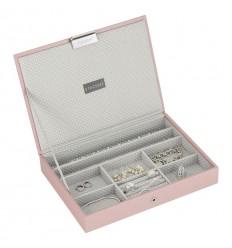 кутия за бижута с капак св.розово