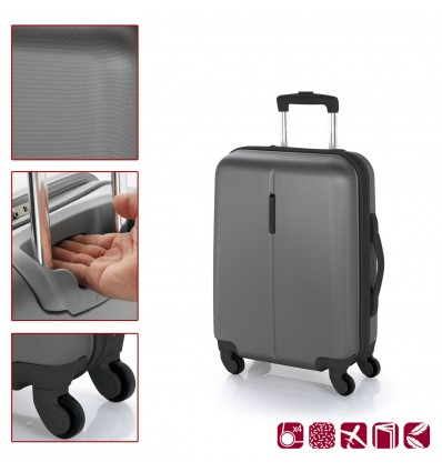 8f4025302dd ABS куфар 55 см. сив – Paradise на цена 118,20 лв — избери за ...