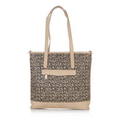 4eea14a3490 Дамска чанта с черна щампа, изкуствена кожа PIERRE CARDIN на цена 99 ...