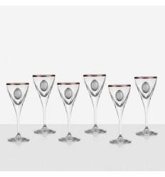 Fusion 6 чаши за ракия, сребърна плочка